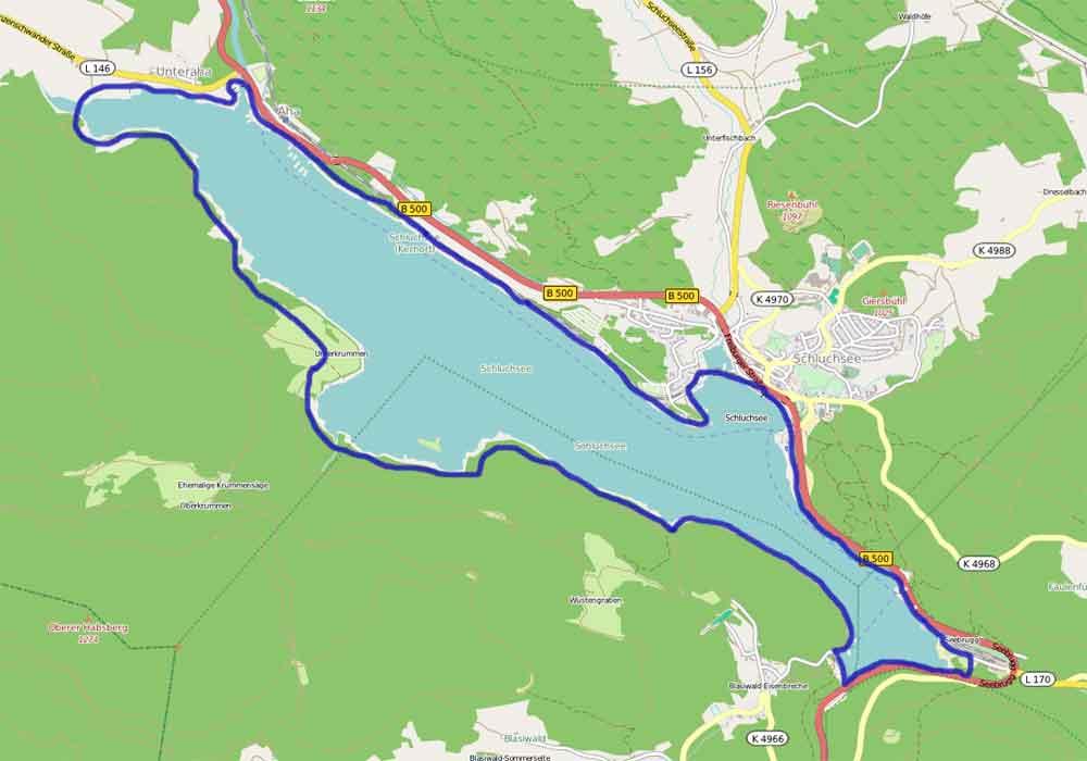 Wanderung Rund Um Den Schluchsee Aha Unterkrummenhof Staumauer